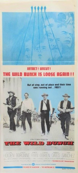 The Wild Bunch Australian rerelease daybill movie poster (3)