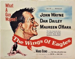 The Wings of Eagles US Half Sheet with John Wayne and Maureen O'hara (1)