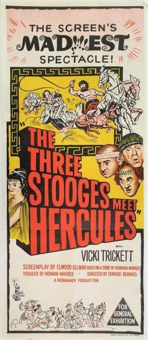 The three stooges meet Hercules Australian daybill film poster (2)