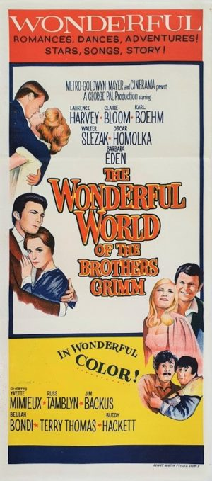 The wonderful world of the brothers grimm Australian daybill movie poster (2)