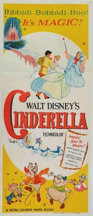 Walt Disney Cinderella Australian daybill film poster (3) 1st Rerelease