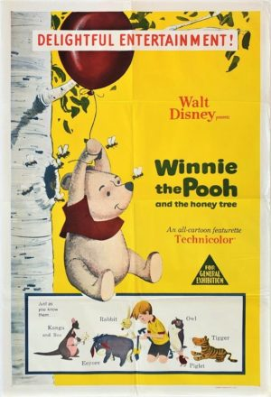 Winnie the Pooh and the Honey Tree Australian One Sheet movie Poster (1)