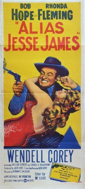 Alias Jesse James Australian Daybill movie poster with Bob Hope (100)