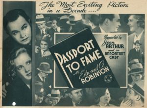 Passport to Fame and The Whole Town's Talking 1935 Herald with Edward G Robinson