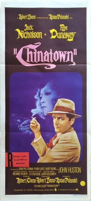 Chinatown Australian Daybill Poster 1974 with Jack Nicholson, Faye Dunaway and directed by Roman Polanski