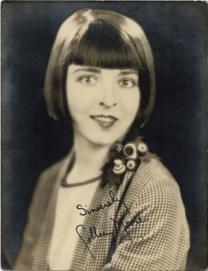 Colleen Moore 1920's portrait 6.5 x 8.5 inches printed signature