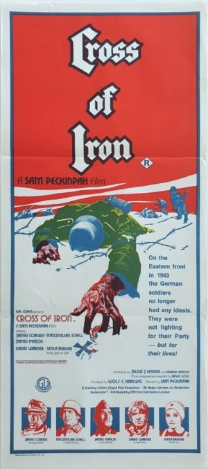 Cross of Iron Australian daybill movie poster WW2 Russian front film (6)