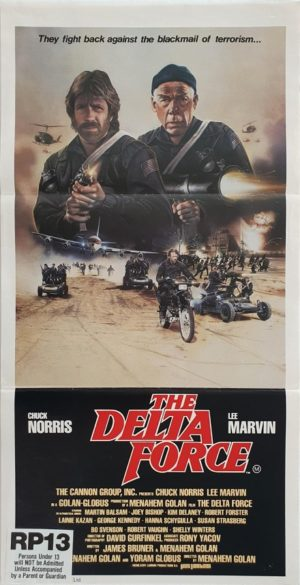 Delta Force Australian daybill movie poster with Chuck Norris and Lee Marvin (1)