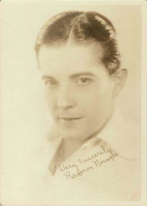 Ramon Novarro 1930's Portrait 5 x 7 (Printed Signature) Ben Hur star