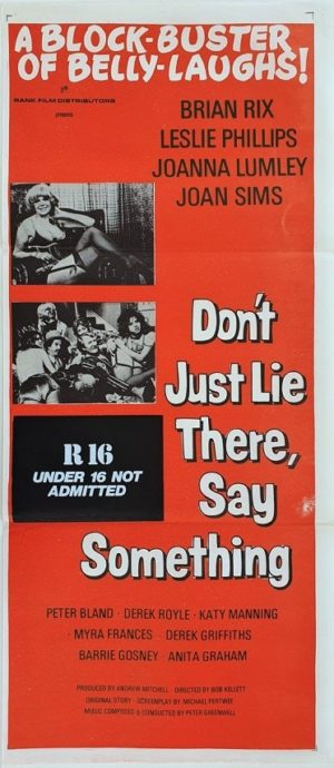 Don't Just Lie There Say Something Australian Daybill movie poster (127)
