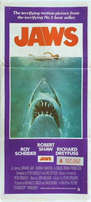 Jaws Australian daybill movie poster (2)
