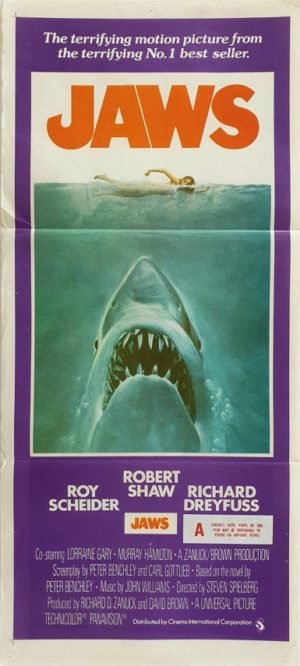 Jaws Australian daybill movie poster (91)