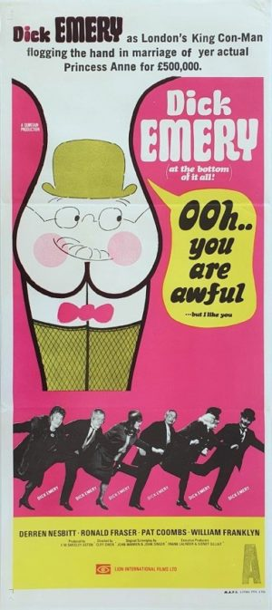 Ooh You Are Awful Australian Daybill movie poster (137)