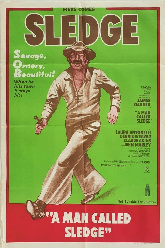 A Man Called Sledge Australian One Sheet movie poster (11) western with James Garner as a cowboy
