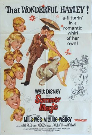 Summer Magic Walt Disney Australian One Sheet Movie Poster (11) Hayley Mills