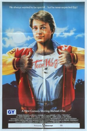 Teen Wolf Australian One Sheet movie poster with Michael J Fox (2)