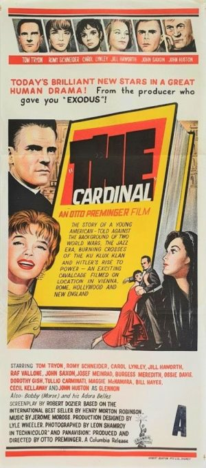 The Cardinal Australian daybill movie poster by Otto Preminger 1963 Saul Bass