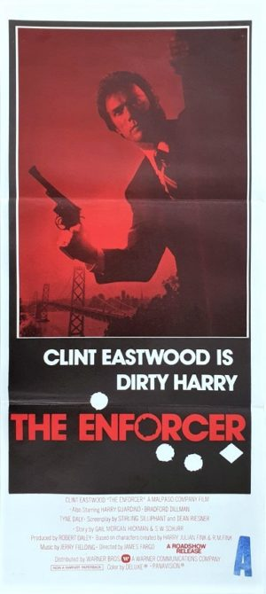 The Enforcer Dirty Harry Australian Daybill Poster with Clint Eastwood (38)