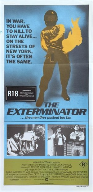 The Exterminator Australian Daybill movie poster (147)