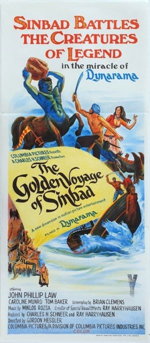The Golden Voyage Of Sinbad Australian Daybill movie poster (138)
