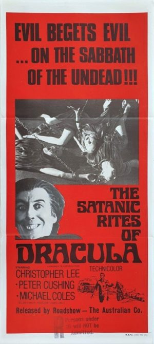 The Satanic Rites Of Dracula Australian Daybill Poster (35)