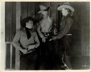 Two fisted law 1932 11 x 14 Still with John Wayne Tim McCoy and Wallace MacDonald (2)