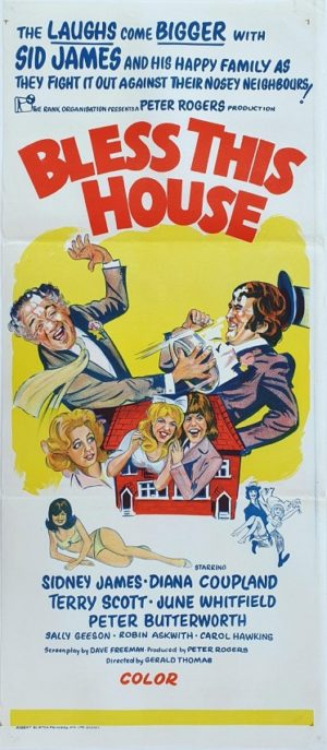 Bless This House Australian daybill movie poster with Sid James (1)