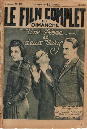 Die Puppenkönigin Une Femme et deux Maris Le Film Complet 1927 French movie magazine Maria Jacobini (2)