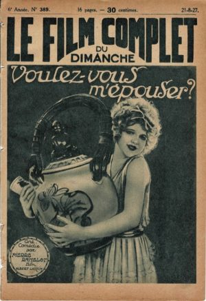 Headlines voulez-vous m'epouser Le Film Complet 1927 French movie magazine with Alice Dale and Dolly Dale (3)