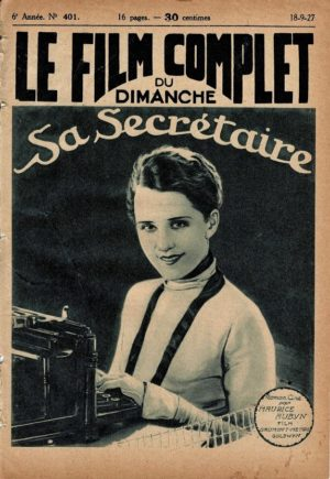 His Secretary La Secretaire Le Film Complet French Film Magazine 1927 with Norma Shearer (1)