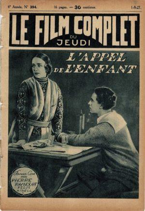 L'Appel De L'enfant Le Film Complet French Film Magazine 1927 Jenny Hasselqvist (2)