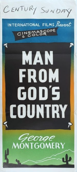 Man From God's Country New Zealand Daybill Movie Poster (2)