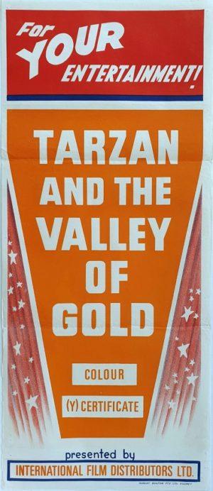 Tarzan And The Valley Of Gold Australian Stock Daybill Movie poster (5)