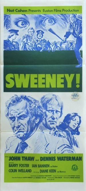 The Sweeny Australian daybill movie poster (33)