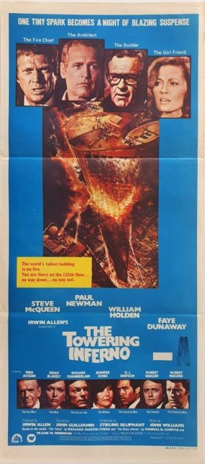 The Towering Inferno Australian daybill movie poster (34)