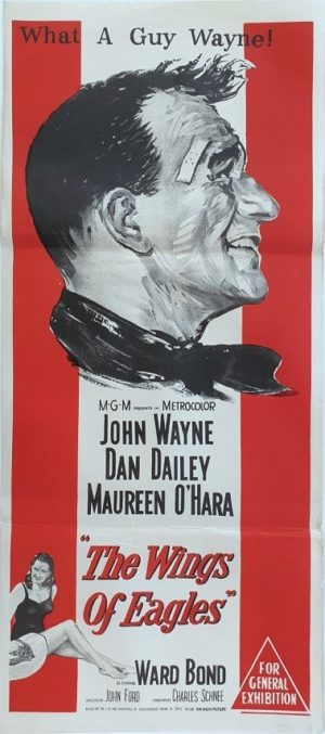 The Wings Of Eagles Australian daybill movie poster with John Wayne (1)