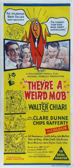 They're A Weird Mob Australian Daybill movie poster (50)
