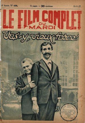 Vas-y vieux frère! Mellem muntre musikanter Doublepatte & Patachon Fyrtårnet og Bivognen Le Film Complet 1927 French movie magazine (3)