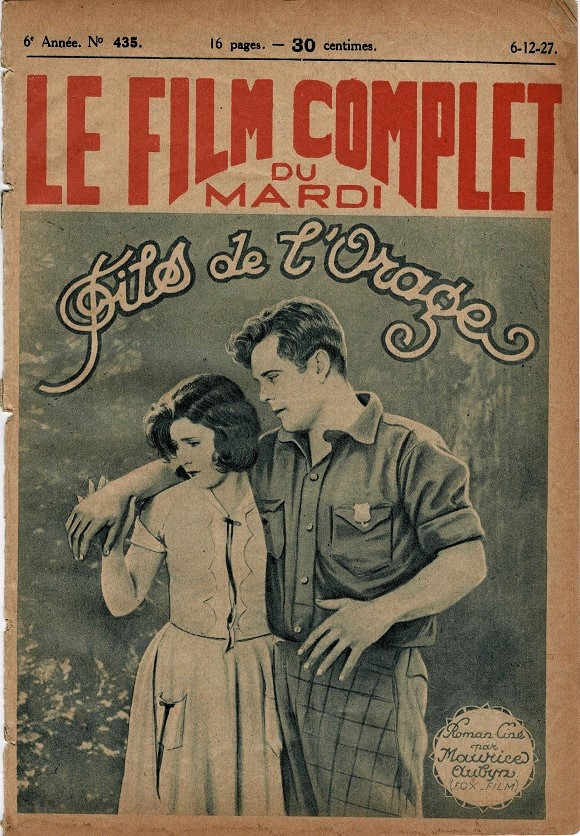 Wings of the Storm Fils De L'Orage Le Film Complet French movie magazine 1927 Thunder the Dog, Virginia Brown Faire (1)