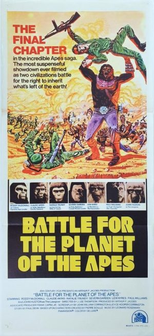 Battle for the planet of the apes Australian daybill movie poster (14)