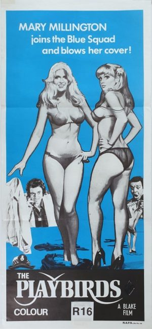 Playbirds Australian daybill movie poster with Mary Millington