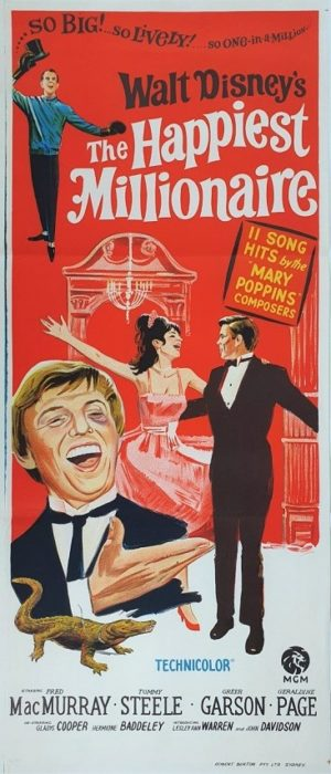 The Happiest Millionaire Australian daybill movie poster with Tommy Steele (3)