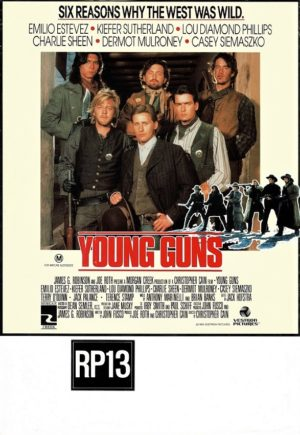 Young Guns window card 1988 with New Zealand rating (2)
