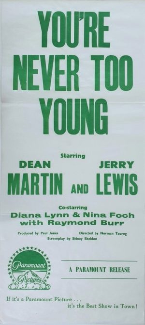 You're never too young Australian daybill movie poster with Dean Martin and Jerry Lewis (3)