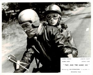 Two And Two Make Six Uk Foh Card Still 8 X 10 Girl On A Motorcycle