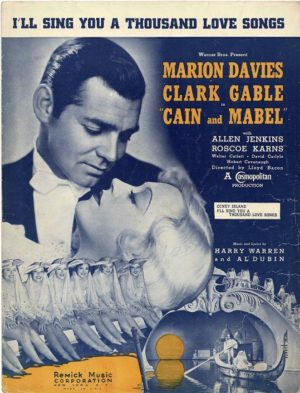 Cain And Mabel Clark Gable Us Film Sheet Music (14)