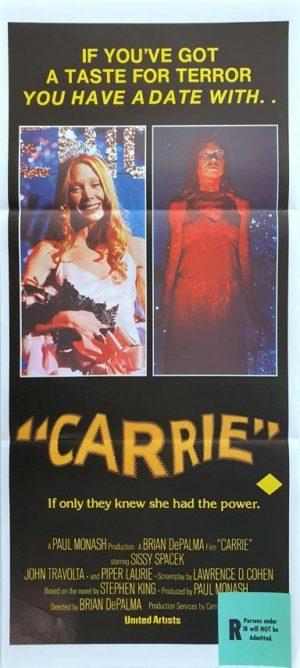 Carrie Australian Daybill Poster Stephen King (2)