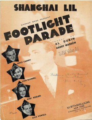 Footlight Parade Us Film Sheet Music With James Cagney And Joan Blondell
