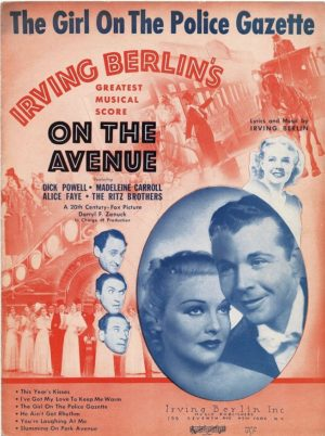 On The Avenue Us Film Sheet Music (22)