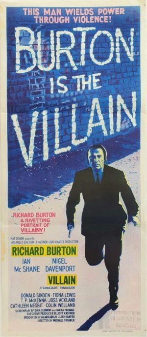 Richard Burton The Villain Australian Daybil Movie Poster (6)